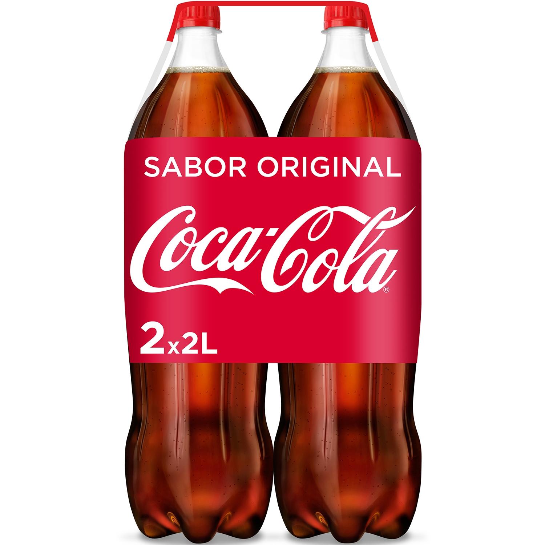 Refresco de cola Coca Cola pack de 2 botellas de 2 l.