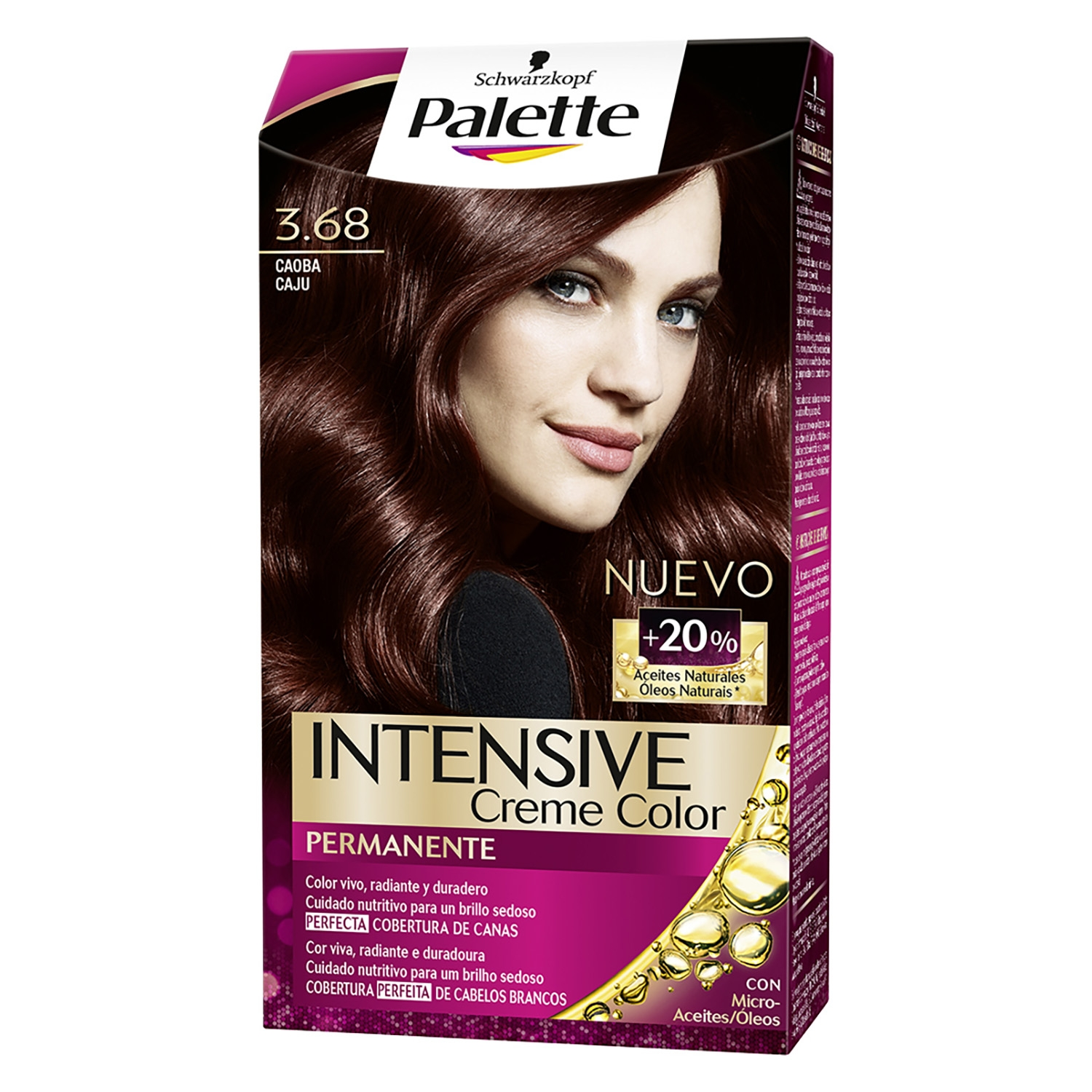 Tinte intense color cream 3.68 caoba