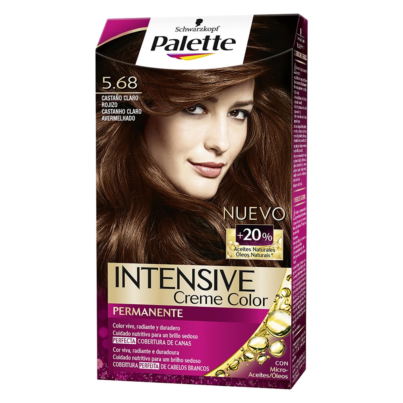 Tinte intense color cream-5.68 castaño claro rojizo