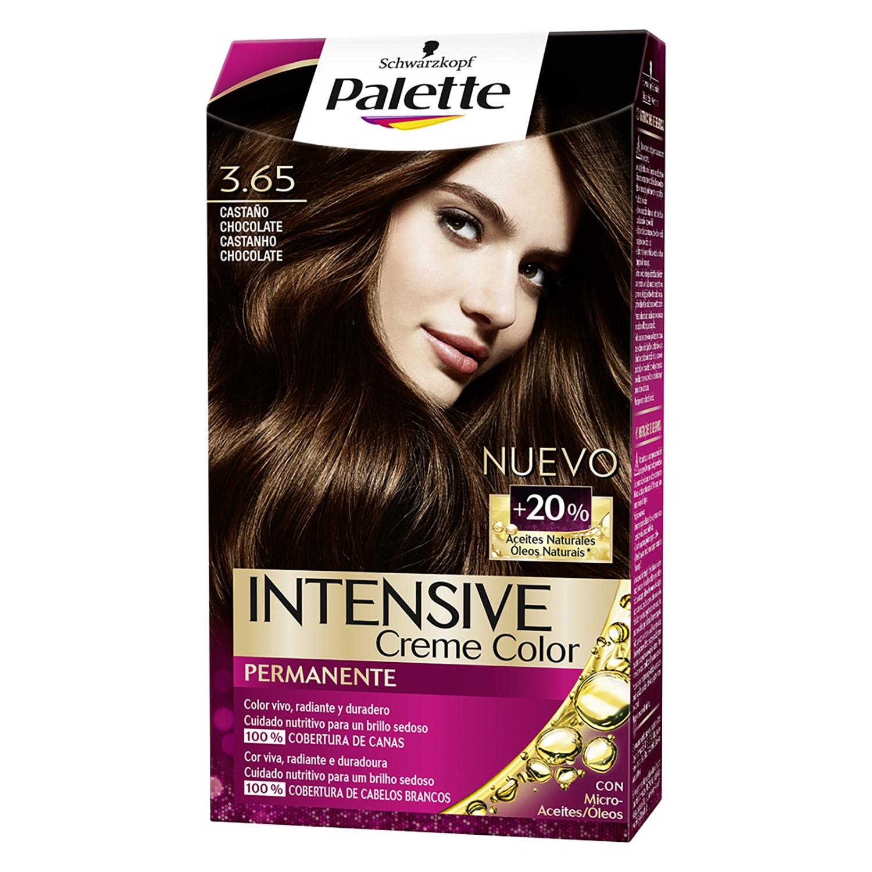 Tinte intense color cream 3.65 castaño medio chocolate Palette 1 ud.