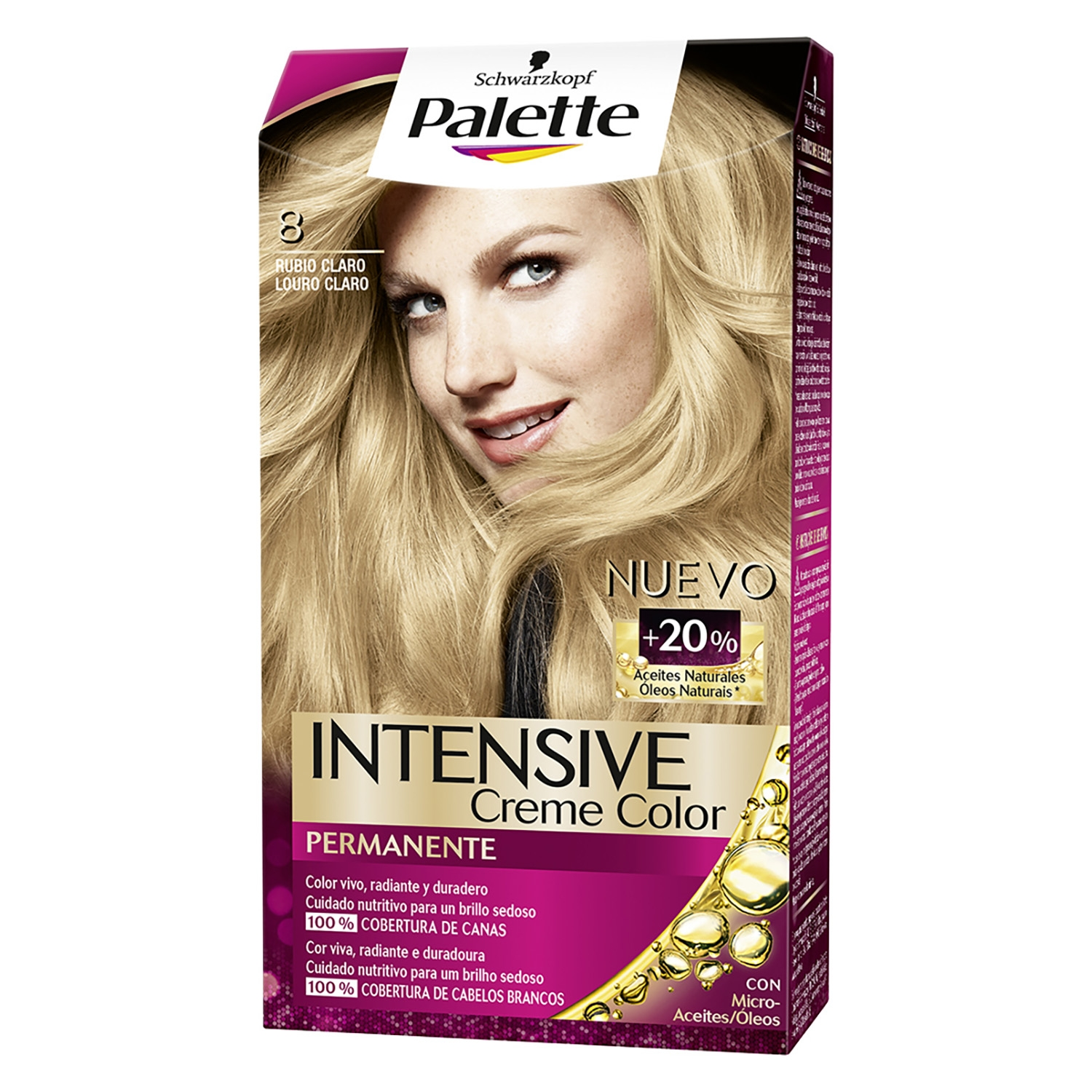 Tinte intense color cream - 8 rubio claro