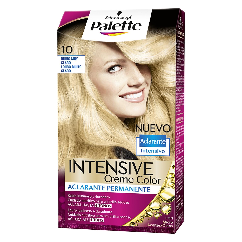 Tinte intense Color Cream10 Rubio muy Claro Palette 1 ud.