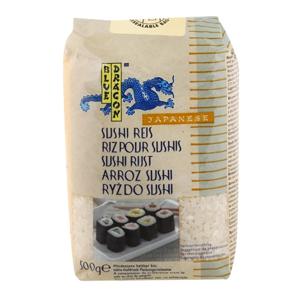Arroz para sushi Blue Dragon 500 g.