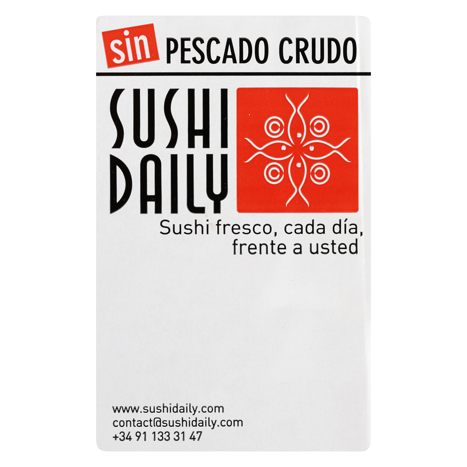Cheese cali roll Sushi Daily 9 pzas. -