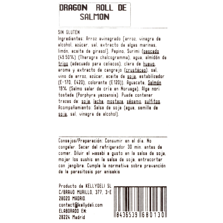 Dragon roll de salmón - 3