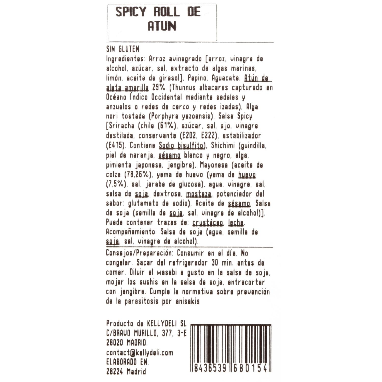 Spicy roll de atún  - 3