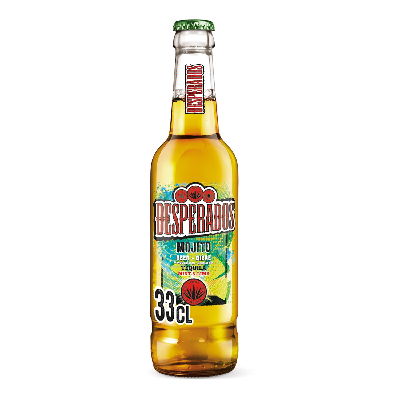 Cerveza Desperados mojito con tequila botella 33 cl.