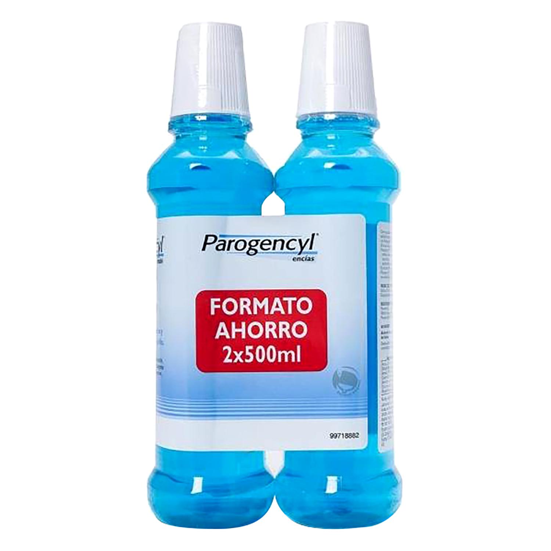 Colutorio control bucal Parogencyl pack de 2 unidades de 500 ml.