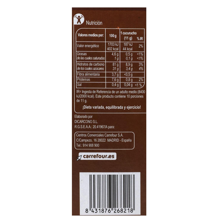 Conos de barquillo Carrefour 110 g. - 2