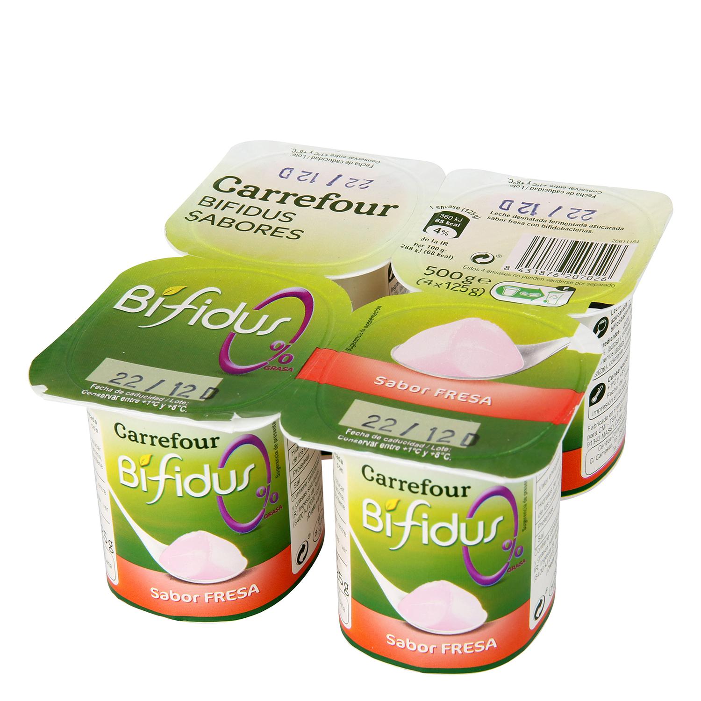 Yogur desnatado Bífidus sabor fresa