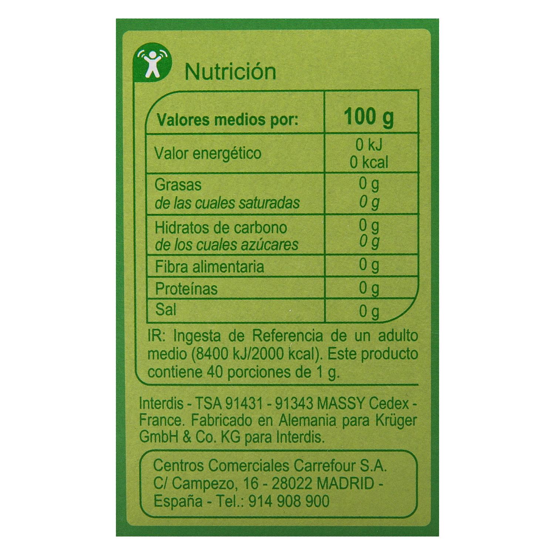 Edulcorante eritritol y glucósidos de esteviol - 2