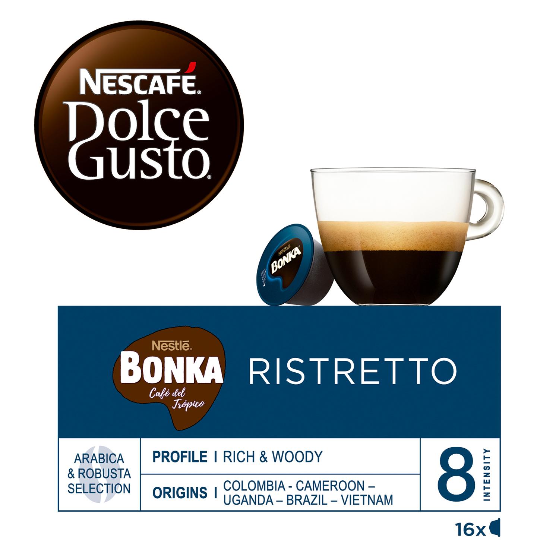 Café espresso bonka en cápsulas Nescafé Dolce Gusto 16 unidades de 7 g. -