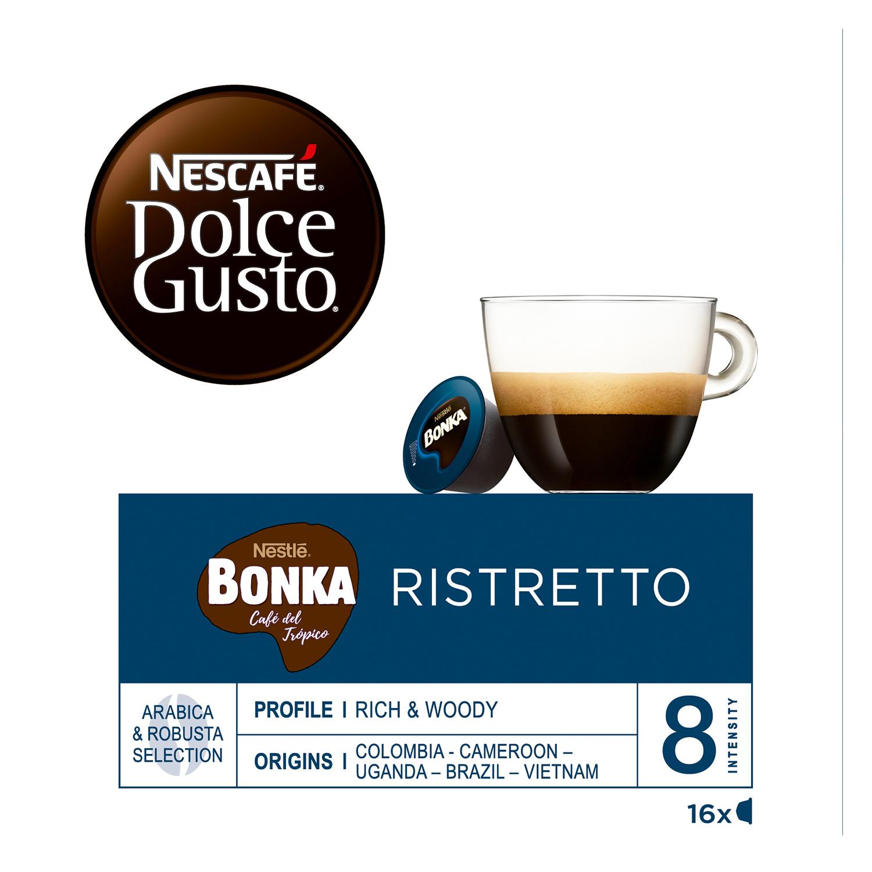 Café espresso bonka en cápsulas Nescafé Dolce Gusto 16 unidades de 7 g. - 2