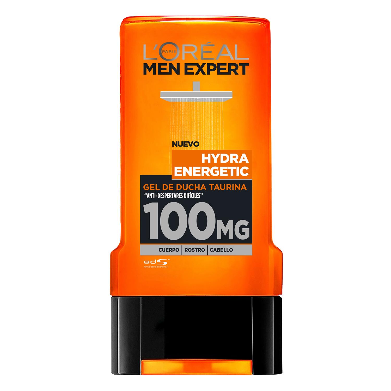 Gel de ducha taurina Hydra Energetic L'Oréal Men Expert 300 ml.