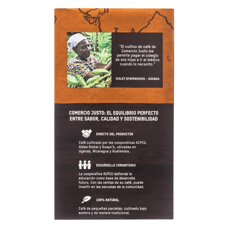 Café molido mezcla ecológico Oxfam Intermón 250 g. - 2