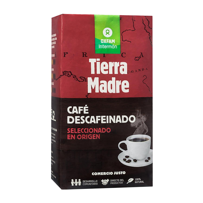Café molido mezcla descafeinado ecológico Oxfam Intermón 250 g.