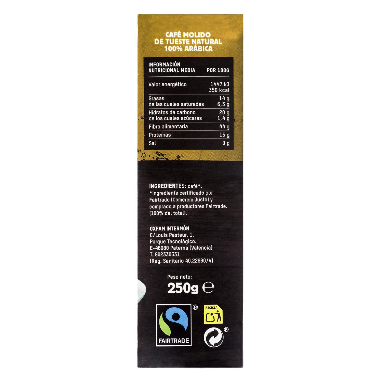 Café molido natural arábica Oxfam Intermón 250 g. -