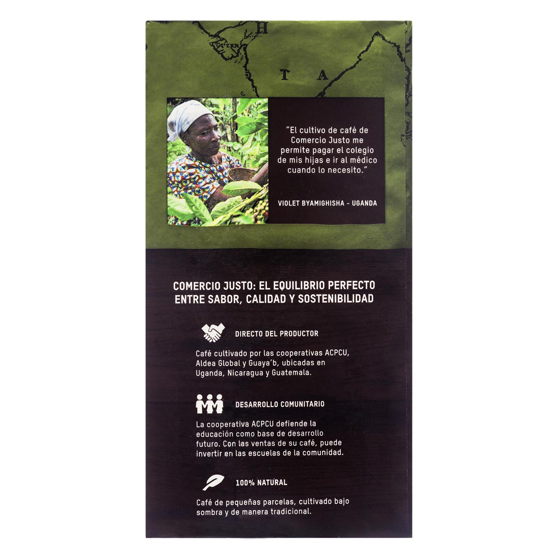 Café molido natural ecológico Oxfam Intermón 250 g. - 2