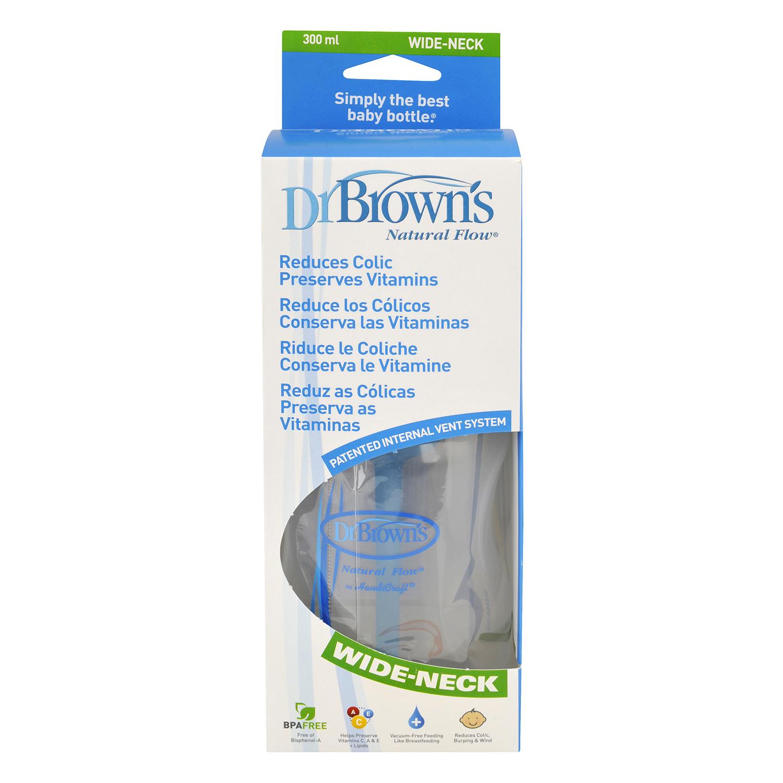 Biberón boca ancha con tetina 300 ml. Dr. Brown´s 1 ud.