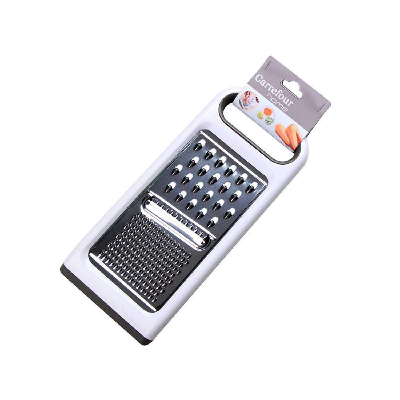 Rallador multiusos de Acero CARREFOUR HOME Specifique 27,3cm-Blanco -
