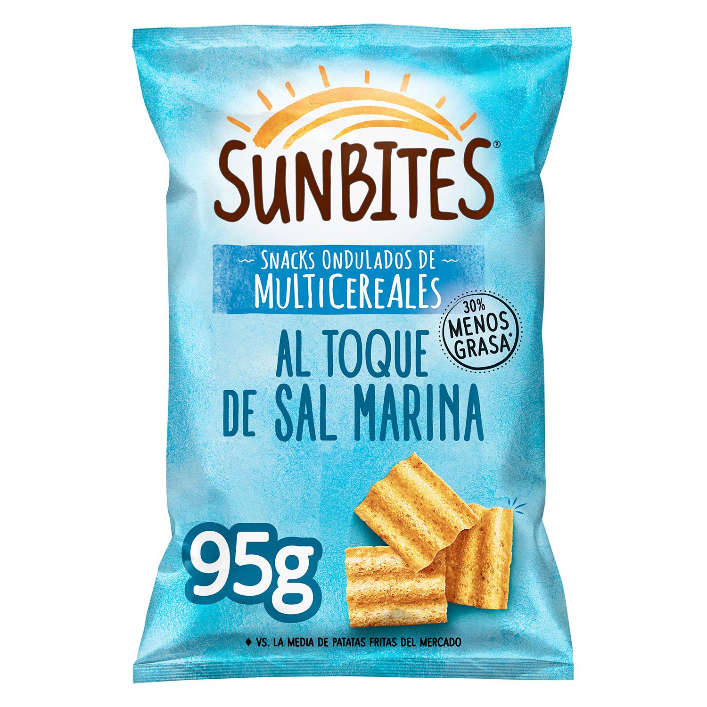 Snack ondulados de multicereales al toque de sal marina