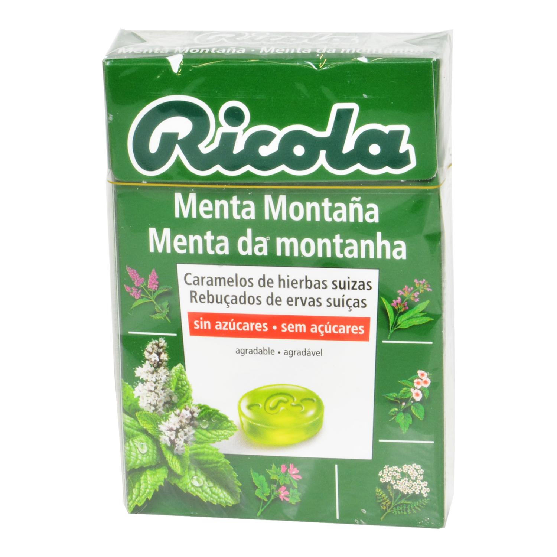Caramelo Menta Montaña sin azúcares Ricola 50 g.