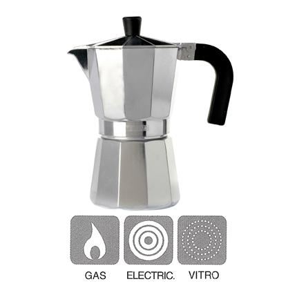 Cafetera Italiana de Aluminio MONIX Vitro 9 tazas - Inox
