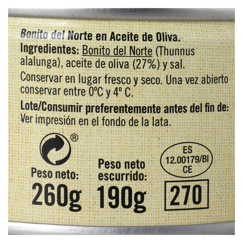 Bonito del Norte en aceite de oliva -