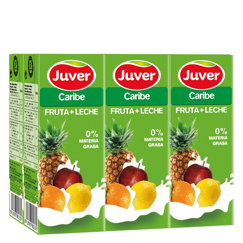 umo de fruta y leche Juver Caribe pack de 6 briks de 20 cl.