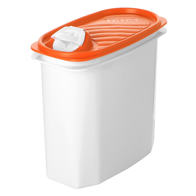 Hermeticos Portalíquidos de Plástico 2 L. - Blanco