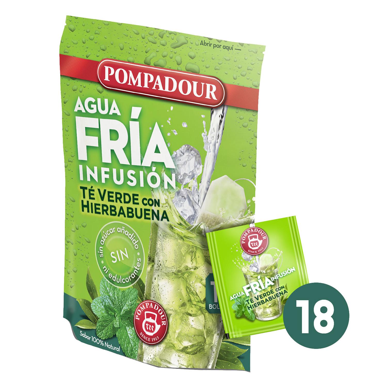 Té verde con hierbabuena-Agua fría
