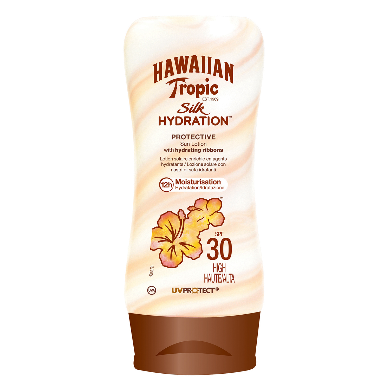 Loción solar FP 30 Silk Hydration Hawaiian Tropic 180 ml.
