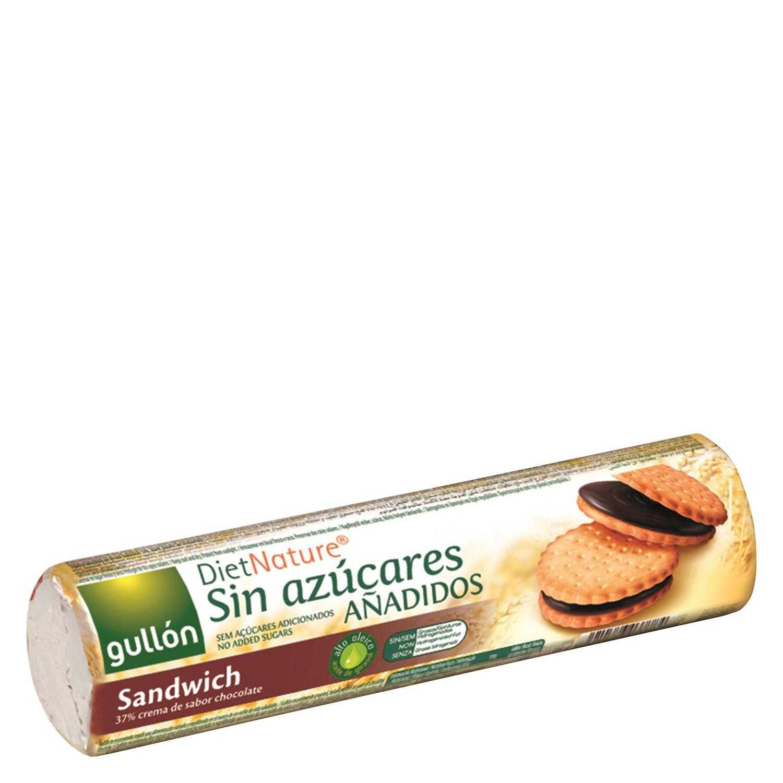 Galletas de chocolate sin azúcares añadidos Diet Nature Gullón 250 g.
