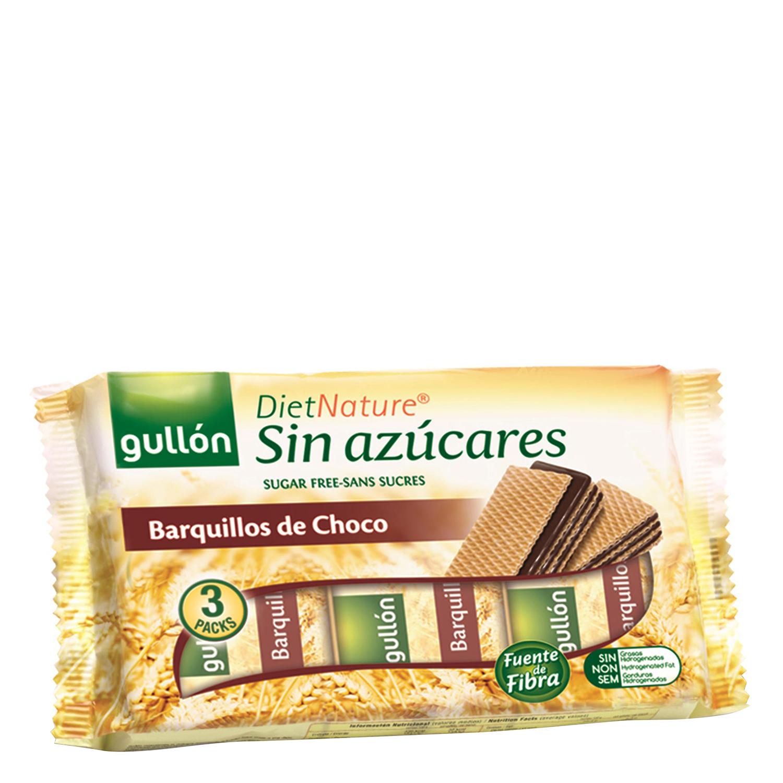Galletas de barquillo de chocolate Diet Nature Gullón 210 g.