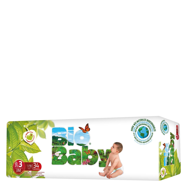 Pañal T3 (7-10 kg.) ecológico Moltex Bio Baby 34 ud.