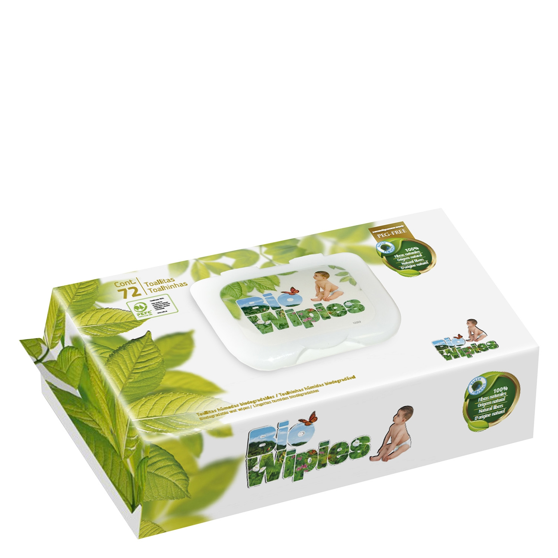 Toallitas húmedas biodegradables ecológicas Bio Wipies 72 ud.