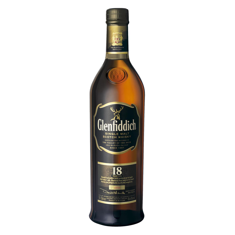 Whisky Glenfiddich escocés 18 años 70 cl.