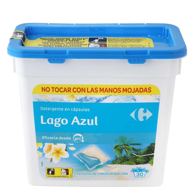 Detergente en cápsulas Lago Azul