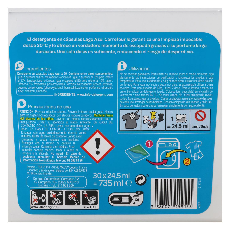 Detergente en cápsulas Lago Azul -