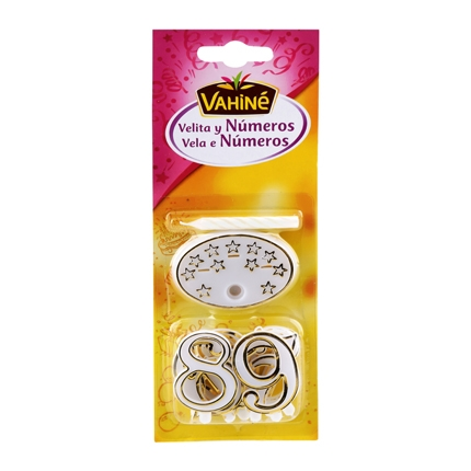 Vela y números Vahiné 1 ud.