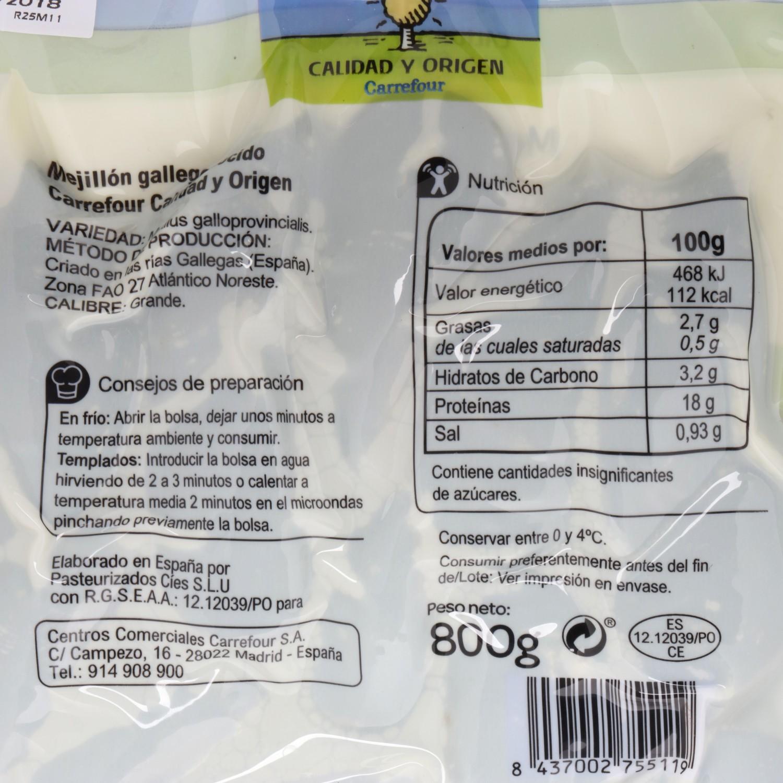 Mejillón pasteurizado Carrefour Calidad y Origen 800 g - 3