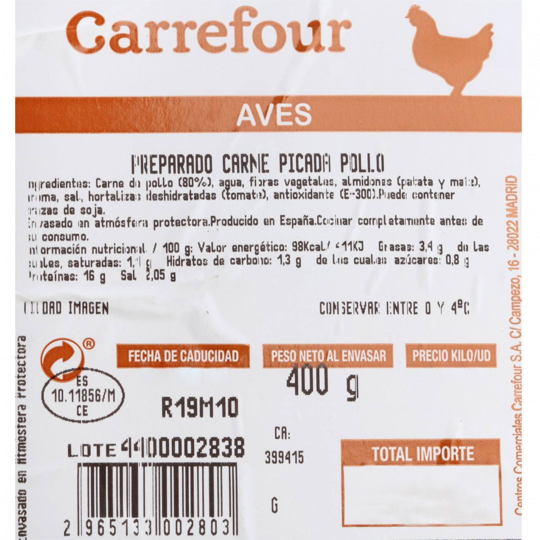 Carne Picada de Pollo Carrefour 400 g - 3