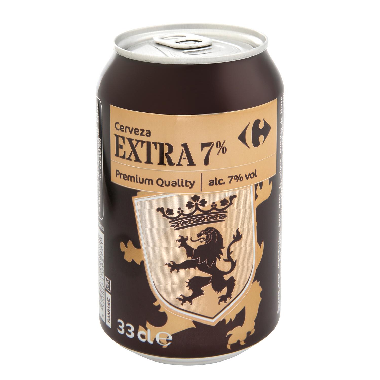 Cerveza Carrefour extra 7% lata 33 cl.