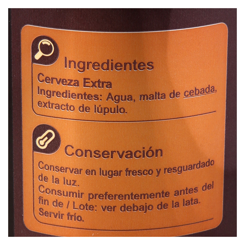 Cerveza Carrefour extra 7% lata 33 cl. - 3