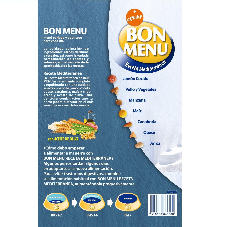 Alimento Seco para Perro Bon Menu Adulto Receta Mediterranea 4 Kg - 2