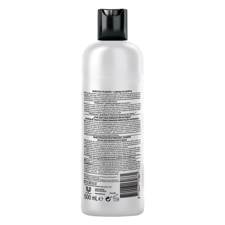 Acondicionador hidratación intensa para cabello seco o dañado Tresemmé 500 ml. -