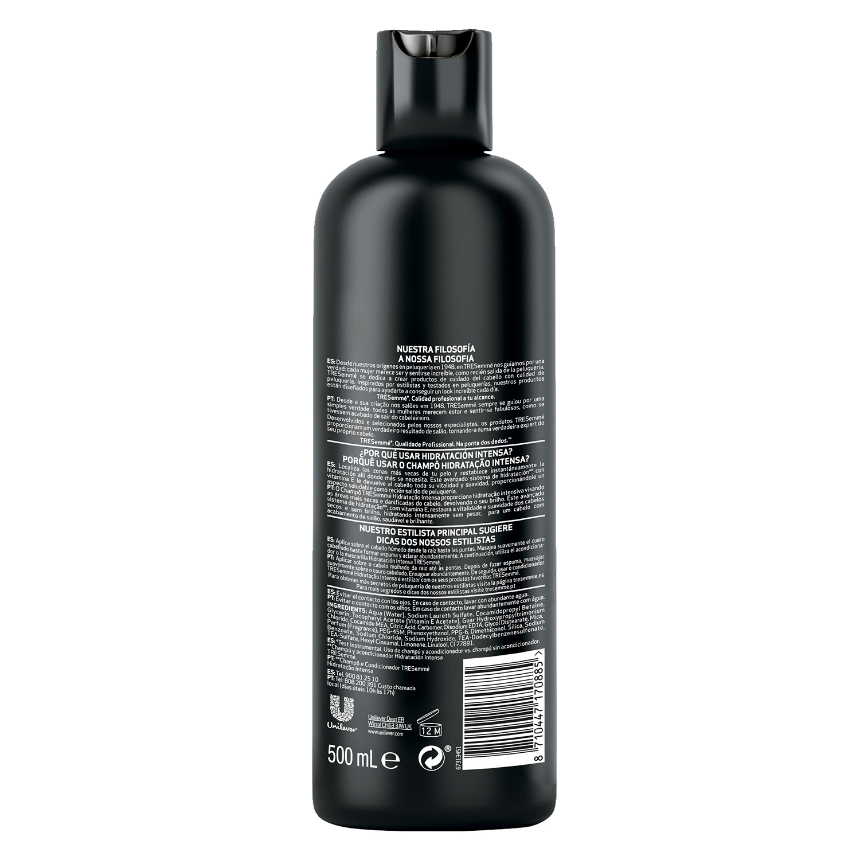Champú hidratación intensa para cabello seco o dañado Tresemmé 500 ml. -