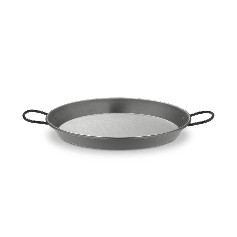 Paellera valenciana de acero pulido  32 cm gris