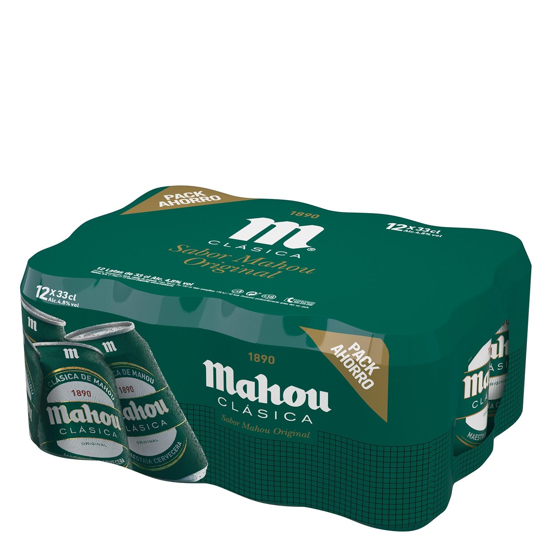 Cerveza Mahou Clásica pack de 12 latas de 33 cl. - 2