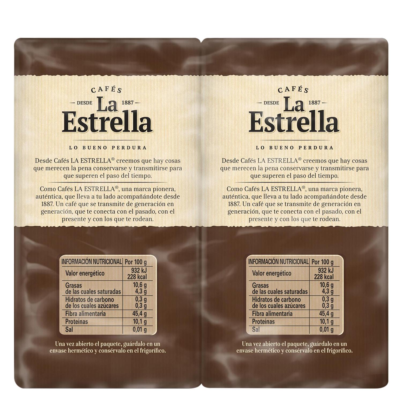 Café molido mezcla express La Estrella pack de 2 unidades de 250 g. -